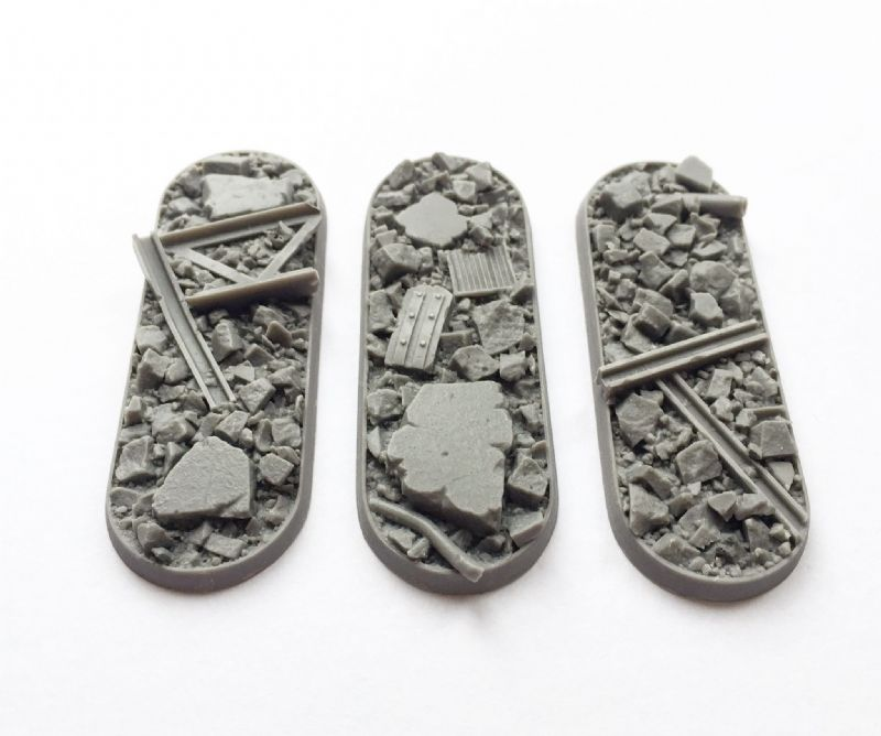 25x70mm Urban Rubble bases (3)
